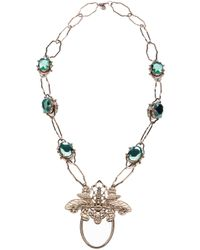 Tory Burch - Metallic Butterfly Necklace - Lyst