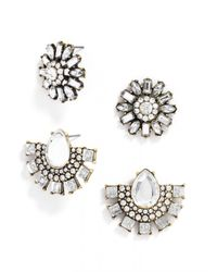 BaubleBar | Metallic Cool Crystal Stud Set | Lyst
