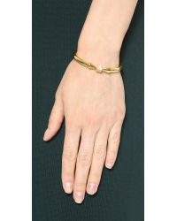 Vita Fede - Metallic Mini Titan Cube Crystal Bracelet - Gold/Clear - Lyst