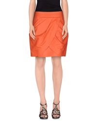 Balmain - Orange Mini Skirt - Lyst