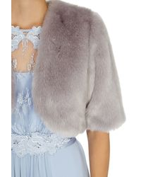 Coast - Gray Bleeker Faux Fur Cover Up - Lyst