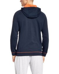 BOSS - Blue 'jacket Hooded'   Cotton Zip-up Hooded Sweatshirt for Men - Lyst