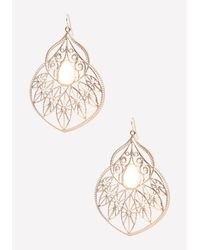 Bebe | White Fancy Starburst Earrings | Lyst