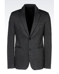 Emporio Armani | Gray Jersey Jacket for Men | Lyst
