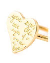 Valentino | Metallic 'l'amour' Ring | Lyst