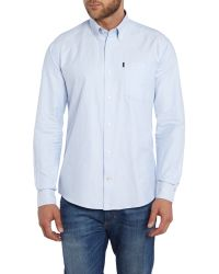 Barbour - Blue The Oxford Long Sleeve Button Down Shirt for Men - Lyst