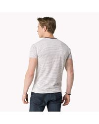 Tommy Hilfiger | Purple Cotton Blend Striped T-shirt for Men | Lyst