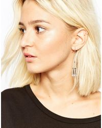 Cheap Monday | Metallic Mineral Earrings | Lyst
