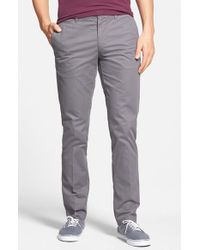 Original Penguin | Gray 'p55' Slim Fit Chinos for Men | Lyst