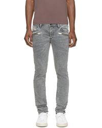DIESEL - Gray Grey Sleenker_zip L.32 Jeans for Men - Lyst