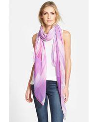 Echo - 'Waterfall' Block Print Wrap - Purple - Lyst