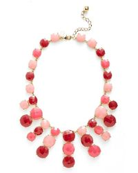 kate spade new york | Jeweled Bib Necklace - Bright Pink Multi | Lyst