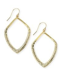 Alexis Bittar - Gray Lucite, Swarovski Crystal & 10k Yellow Gold Drop Earrings - Lyst