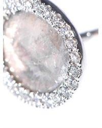 Susan Foster - Metallic Diamond Slice Whitegold Stud Earrings - Lyst