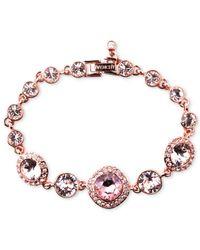 Givenchy | Pink Rose Gold-tone Swarovski Vintage Stone Bracelet | Lyst
