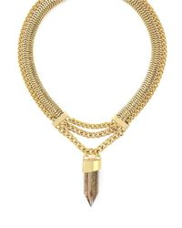 BCBGeneration | Metallic Rock Candy Chain Crystal Shard Necklace | Lyst