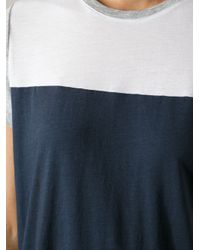 Vince - Blue Tricolour Tshirt - Lyst
