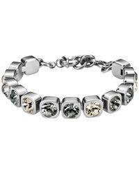 Dyrberg/Kern - Metallic Dyrberg/kern Conian Swarovski Crystal Silver Toned Bracelet - Lyst