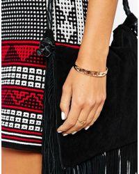 ASOS - Metallic Modern Eye Cuff Bracelet - Lyst