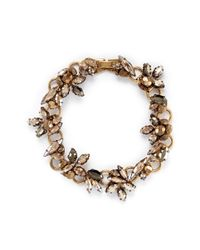 Erickson Beamon | Metallic 'golden Rule' Crystal Foliage Bracelet | Lyst