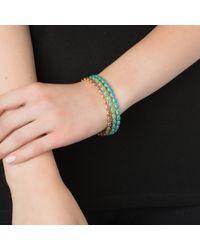 Emily & Ashley | Blue Gold Oval Bangle, Turquoise | Lyst