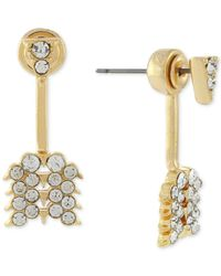 BCBGeneration - Metallic Gold-tone Crystal Arrow Jacket Earrings - Lyst
