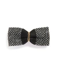 Tasha | Black Crystal Embellished Bow Hair Clip | Lyst