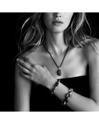 David Yurman - Metallic Midnight Mélange Oval Small Link Bracelet with Black and White Diamonds - Lyst
