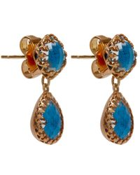 Larkspur & Hawk | Blue Small Teal Topaz Jane Earrings | Lyst