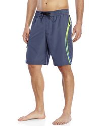 Adidas - Gray Tech Splice Volley Board Shorts for Men - Lyst
