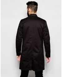 G-Star RAW - Black Beraw Trench Coat Tore James Stretch Twill Biker Detail for Men - Lyst