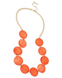 Kenneth Cole | Gold-tone Orange Shell Frontal Necklace | Lyst