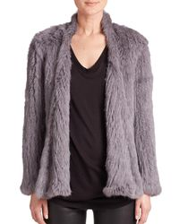 Nicholas | Gray Rabbit Fur Jacket | Lyst