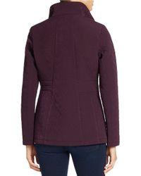 Gallery | Purple Petite Mockneck Collar Quilted Coat | Lyst