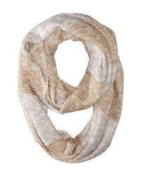 Calvin Klein | Brown Plaited Stripe Infinity Scarf | Lyst