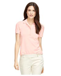 Brooks Brothers - Pink Short-sleeve Slim Fit Polo Shirt - Lyst