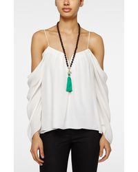 Nicole Miller | Green Mala Ganesh Necklace - Obstacles | Lyst