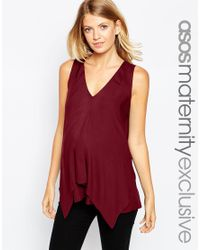 ASOS | Purple Nursing Woven Vest With Overlay | Lyst