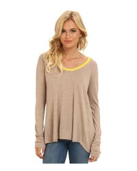 C&C California - Yellow Cashmere Blend Sweater With Contrast Tipping - Lyst