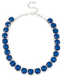 Macy's | M. Haskell Silver-Tone Blue Bead Collar Necklace | Lyst