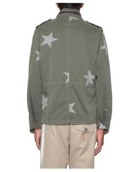 Saucony - Green Cotton Jacket With Stars Print for Men - Lyst