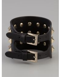 Valentino - Black Rock Stud Small Bracelet - Lyst