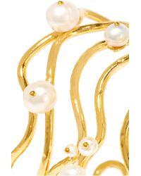 Aurelie Bidermann - Metallic Gold-plated Pearl Cuff - Lyst