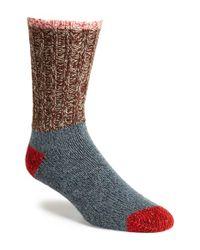 Woolrich | Metallic Colorblock Merino Wool Blend Socks for Men | Lyst