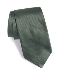 John Varvatos | Green Solid Silk Tie for Men | Lyst