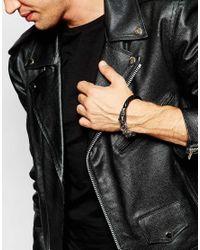 Seven London | Black Braided Dragon Bracelet for Men | Lyst