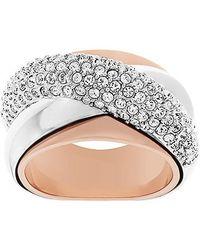 Swarovski - Pink Wave Ring - Lyst