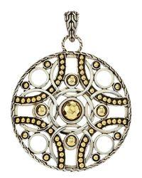 John Hardy - Metallic Palu Bulan Medium Circle Pendant Enhancer - Lyst