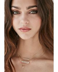 Forever 21 - Metallic Shashi Open Rectangle Necklace - Lyst