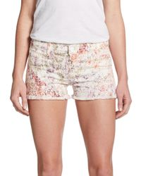 Hudson Jeans - Multicolor Amber Raw Edge Denim Shorts - Lyst